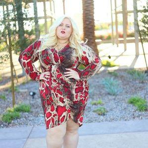Dresses & Skirts - Red leopard dress